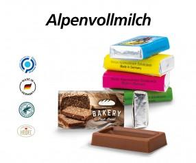 Napolitain Alpenmilch Schokolade als Werbeartikel mit Druck