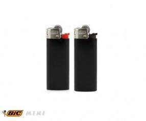 BIC 2360 Mini-Feuerzeug J25 incl. 1c-Druck mit Reibrad schwarz