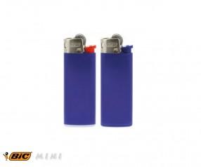 BIC 2360 Mini-Feuerzeug J25 incl. 1c-Druck mit Reibrad dunkelblau