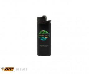 BIC 2364 Mini-Feuerzeug J25 incl. 1c-Druck mit Reibrad schwarz-schwarz