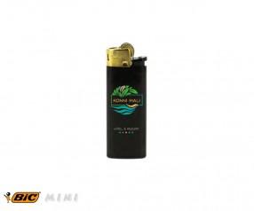 BIC 2430 Mini-Feuerzeug J25 incl. 1c-Druck mit Reibrad schwarz-gold