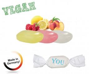 Bonbon weisser Wickler Fruchtmix vegan 1-Kilo-Tüte Werbepräsente