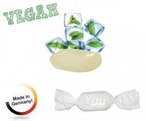 Bonbon weisser Wickler Eiskristall vegan 1-Kilo-Tüte Werbung