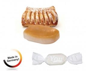 Bonbon weisser Wickler Apfelstrudel 1-Kilo-Tüte mit Druck