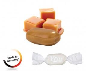 Bonbon weisser Wickler Vollmilch-Karamell 1-Kilo-Tüte mit Logo