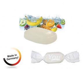 Bonbon weisser Wickler Tropic-fresh 1-Kilo-Tüte bedruckt