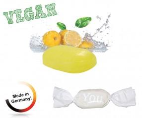 Bonbon weisser Wickler Zitrone mit Vitamin C vegan 1-Kilo-Tüte