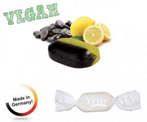 Bonbon weisser Wickler Zitronen-Lakritz vegan 1-Kilo-Tüte