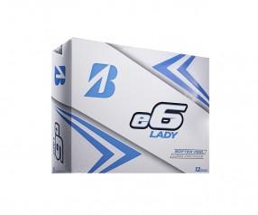 Golfball bedrucken Bridgestone e6 Lady in 2 verschiedenen Farben