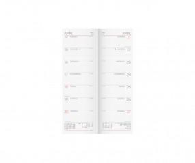 Brunnen Modell 782 Terminbuch mit Klammerheftung im Rücken inkl. Werbedruck