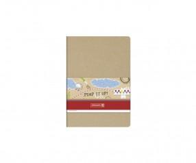 Brunnen Notizbuch Pimp it up! DIN A6 mit Naturkarton Einband
