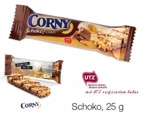Corny Müsliriegel Schoko 25g giveaway incl. 4c-Digitaldruck