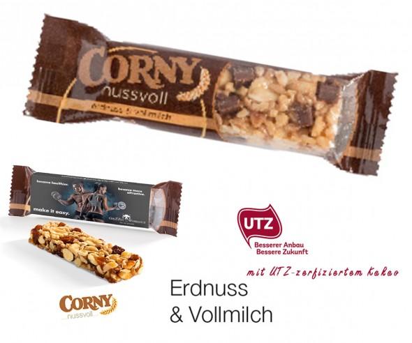 Corny Nussriegel Erdnuss-Vollmilch 24g mit Werbeaufdruck incl. 4c-Digitaldruck-Copy
