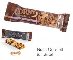 Corny Nussriegel Nuss Quartett-Traube 24g Streuartikel incl. 4c-Digitaldruck