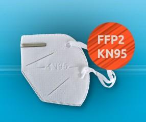 KN95 PSA FFP2 Mundbedeckung Gesichtsmaske Mund-Nasen-Maske für SFO1000 mit anpassbarem Metallbügel