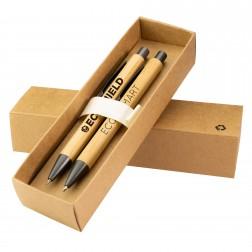 Goldstar Bowie Bambus Geschenkset GHK mit Kugelschreiber und Druckbleistift