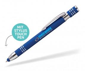 Goldstar Lennox-Morrison LMN Soft Touch Kuli mit Touchpen incl Gravur Pantone 7685 blau