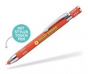 Goldstar Lennox LMN Soft Touch Kuli mit Touchpen incl Gravur Pantone 7417 orange
