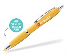 Goldstar Lopez MHC Softtouch Kuli mit Touchpen incl Gravur Pantone 123 gelb