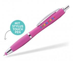 Goldstar Lopez MHC Softtouch Kuli mit Touchpen incl Gravur Pantone 219 rosa