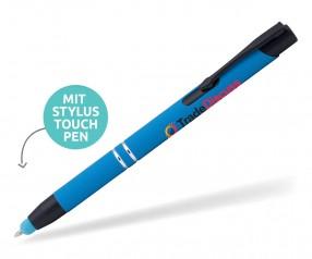 Goldstar Black Crosby MHR Soft Touch Kuli mit Touchpen Pantone 7690 Hellblau