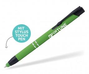 Goldstar Black Crosby MHR Soft Touch Kuli mit Touchpen Pantone 7737 Grün