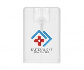 Goldstar 20 ml Desinfektionsspray in Scheckkartenformat HUR inkl. ColourJet-Druck klar