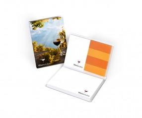 KARL KNAUER Haftset 04 mit individualisierbaren Papiermarkern als Werbegeschenk