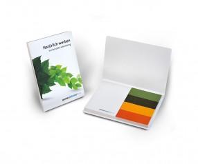 KARL KNAUER Recycling Haftset 01 mit individualisierbaren Papiermarkern als Promotionartikel