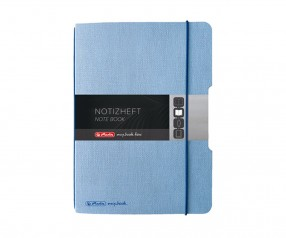Herlitz Notizheft my book flex A4 Leinenoptik blau