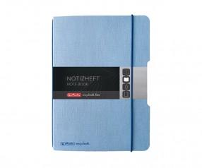 Herlitz Notizheft my book flex A4 Leinenoptik blau