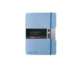Herlitz Notizheft my book flex A5 Leinenoptik blau