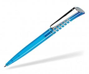 DreamPen INFINITY Metallclip Transparent IMT1021 Werbekugelschreiber hellblau
