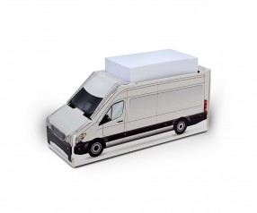 KARL KNAUER Kartonbox 18 Transporter Zettelbox mit Druck als Promotionsartikel