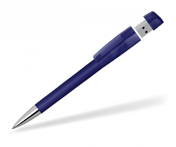 Klio Turnus USB Kugelschreiber SOFTFROST DTI1 dunkelblau ice