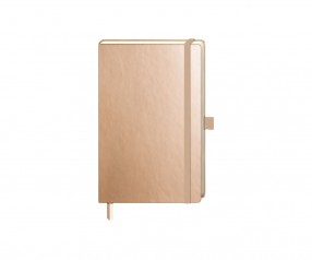 Brunnen Notizbuch Kompagnon Metallic DIN A6 gold