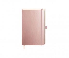 Brunnen Notizbuch Kompagnon Metallic DIN A6 rosegold