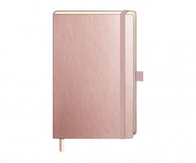Brunnen Notizbuch Kompagnon Metallic DIN A5 rosegold