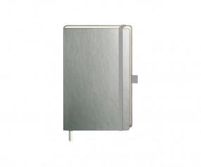 Brunnen Notizbuch Kompagnon Metallic DIN A6 silber