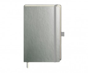 Brunnen Notizbuch Kompagnon Metallic DIN A5 silber