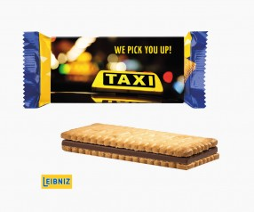 Leibniz Pick Up Mini Choco branded auf Werbeschuber