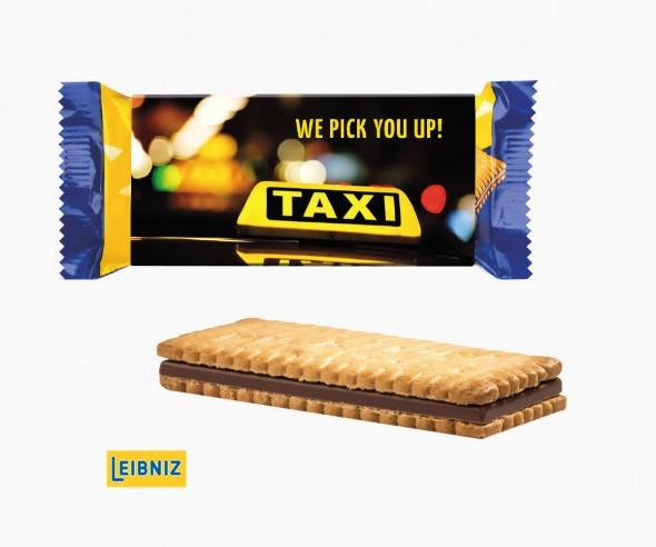 Leibniz Pick Up Mini Choco branded auf Werbeschuber