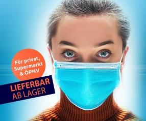Einweg-Masken MNS Mundbedeckung Gesichtsmaske Mund-Nasen-Maske 3-lagig für Privat-Gebrauch