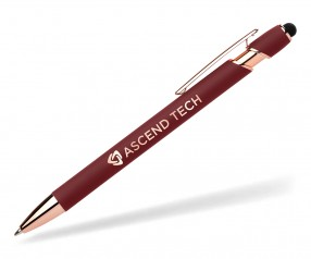 Goldstar The Prince Kugelschreiber Rose Gold Softtouch MPQ Rot Pantone 1815