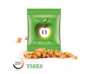 Apfel Cubes Minitüte, Trockenobst Werbeartikel