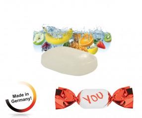 Bonbon mit Logodruck metallisierter Wickler Tropic-fresh 1-Kilo-Tüte