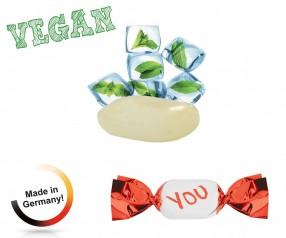 Bedruckte Bonbons vegan metallisierter Wickler Eiskristall 1-Kilo-Tüte