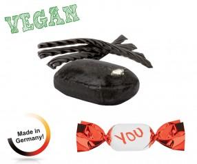 Bonbons Giveaways vegan metallisierter Wickler Lakritz 1-Kilo-Tüte