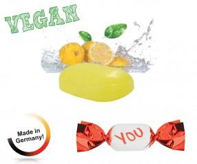 Bonbons bedrucken vegan metallisierter Wickler Zitrone mit Vitamin C 1-Kilo-Tüte