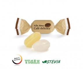 Bonbon Werbeartikel zuckerfrei vegan weißer Wickler Fruchtmix 1-Kilo-Tüte